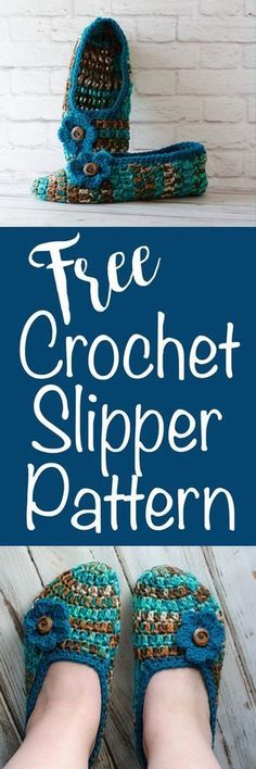 These are so cute! Free Crochet Slipper Pattern