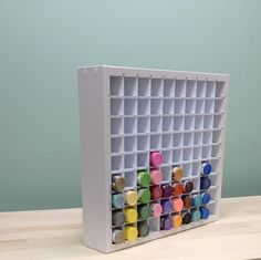 Acrylic Paint Organizer- Holds 90 standard size 2oz. craft bottles.