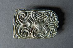 Late Saxon copper-alloy belt fitting, made in Scandinavia and excavated at Wharram Percy