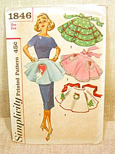 Vintage+Apron+Patterns+Free | APRON HALF PATTERN « FREE Knitting PATTERNS