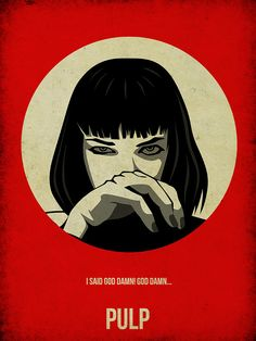 Pulp Fiction Painting - Pulp Fiction Poster by Naxart Studio