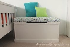 When I was designing Tristan's room I wasstuck on two things.  First, there was an empty space at the bottom of the bed that I wasn't s...