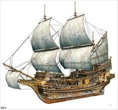 Cutaway Galleon