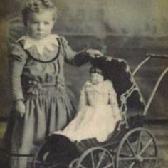 vintage sweetie with her dolly