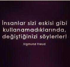 Kesinlikle öyle My Philosophy, Sigmund Freud, Thug Life, Number One, Karma, Favorite Quotes, Quotations, Psychology, Islam