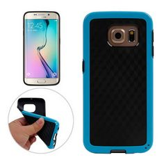 [$2.11] Honeycomb Texture TPU Protective Case for Samsung Galaxy S6 Edge / G925(Blue)