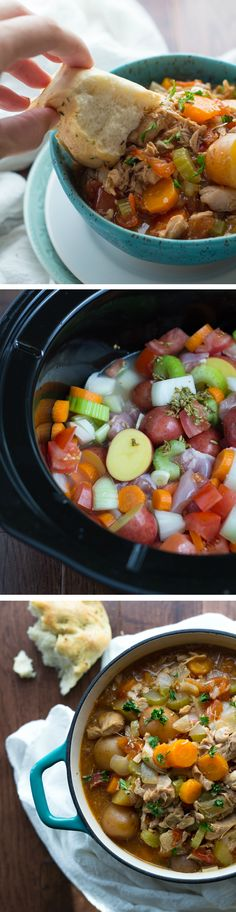 Slow Cooker Tuscan Chicken Stew.. Tested this for my Shrinking On a Budget Meal Plan last week - just now getting around to Pinning it. Fantastic! I made a few changes, but mostly stuck with the recipe. Perfect for fall!