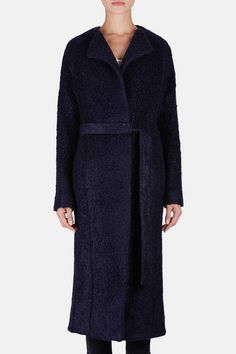 Atea Oceanie — Wrap Coat - Navy