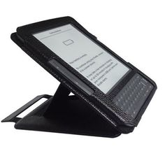 Multi-View Flip Leather Case for Kindle 3 with Adjustable Stand (Black) by BrainyTrade. $7.95. Description:  Leather case for the Kindle 3 protects your Kindle and enhances its use.  The soft leather acts as a tactile barrier protecting from knocks and scratches whilst out and about.  The in-built stand function allows you to place the book on a desk, table or any other surface you wish without the need to hold it.  The adjustable arm allows a wide range of ang...