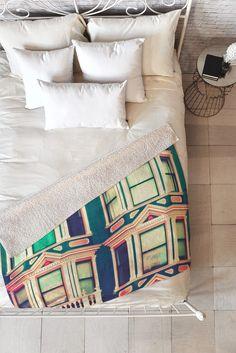 Shannon Clark Dollhouse Fleece Throw Blanket   DENY Designs Home Accessories