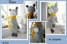 KIRA the kangaroo made by Nathalie S. S. / crochet pattern by lalylala
