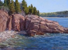 Acadia Cove by Kathleen Dunphy Oil ~ 12 x 16
