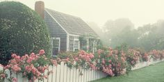 These fanciful floral facades are the perfect landscaping ideas to inspire major curb appeal for your home or backyard design that'll look great year-round! Nantucket Cottage, Cottage Style, Cottage House, Tiny House, Landscape Design, Garden Design, Landscape Architecture, Beautiful Homes, Beautiful Places