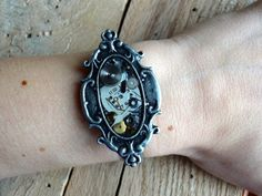 For Her! Steampunk Antique Watch Parts and Gears Filigree Cuff by FragmentedTime on Etsy