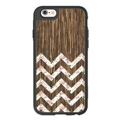 iPhone 7 Plus/7/6 Plus/6/5/5s/5c Case - Vintage Preppy Floral Chevron... ($40) ❤ liked on Polyvore featuring accessories and tech accessories