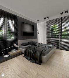 APARTAMENT 100 m WARSZAWA - Średnia sypialnia małżeńska, styl minimalistyczny - zdjęcie od THE VIBE