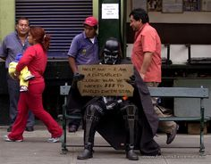 Funny Pictures > Star Wars : Darth Vader as a Homeless Disabled Clone War Vet - Need Money to Build Death Star