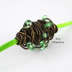 Wire Focal Bead - tutorial by Rena Klingenberg