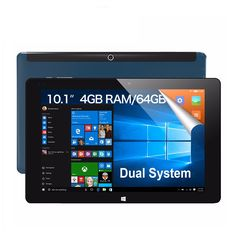 """iWork10 ultimate 10.1"""" Tablet PC Dual Boot Windows10 + Android 5.1 Intel Quad Core 4GB RAM 64GB ROM 10.1 Inch IPS 1920*1200 HDMI"""