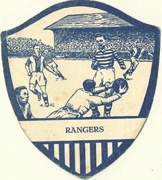 Rangers shield card from the 1940s.