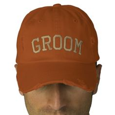 GROOM EMBROIDERED HAT | Zazzle