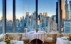 The View: The 16-foot-high windows in this Mandarin Oriental Hotel's restaurant, Asiate, offer views of Midtown Manhattan's sleek vertical marvels and the leafy urban oasis of Central Park. From the elegant 35th-floor dining room, the buzz of the city recedes, leaving a glittering metropolis. The Food: Chef Toni Robertson, a native of Burma, brings subtle Asian flavors and classical French training to the menu, with entrees like Atlantic halibut with shishito pepper and citrus sabayon, as…