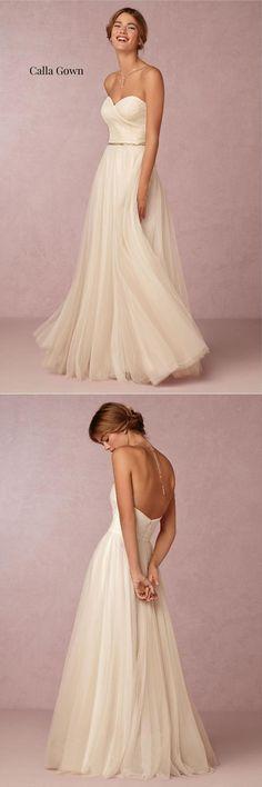 BHLDN Calla Gown|10 Must-See Wedding Dresses Under $1000