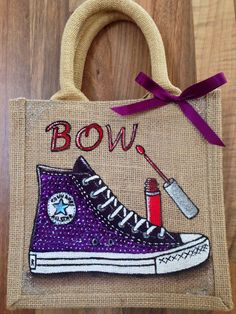 Emily-em Original Bag Designs......Another sparkly Converse bag!