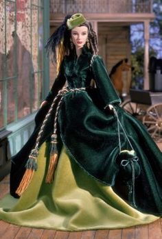 Scarlett O'Hara™ Doll On Peachtree Street—The Drapery Dress™ | celebrity-dolls | The Barbie Collection