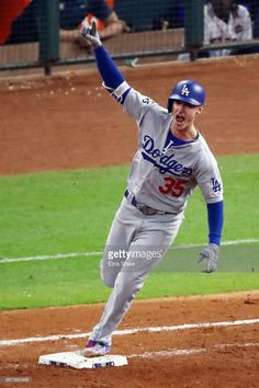 2018 NLCS winning hit by Cody Bellinger! Let's Go Dodgers, Dodgers Nation, Dodgers Girl, Baseball Boys, Dodgers Baseball, Hockey Girls, Hockey Mom, Ice Hockey, Famous Baseball Players