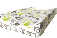 Changing Pad Cover in Tractors- nursery bedding - baby changing station - Modern farm theme nursery