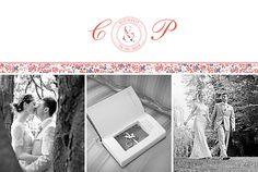 Dankeskarten Hochzeit Blumensinfonie band rot
