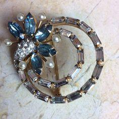 Vintage bling brooch