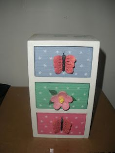 Jewelry box that can be used as a doll dresser.