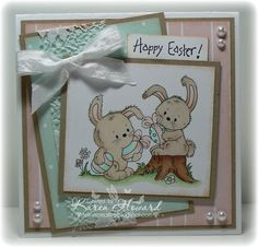 Bunny's Egg Hunt by Feline Creative - Cards and Paper Crafts at Splitcoaststampers