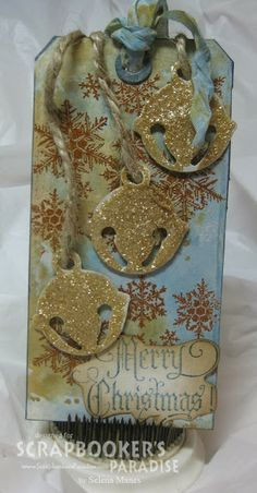 Scrapbooker's Paradise Blog: Distress Stains, Stamps and Glitter Oh My!