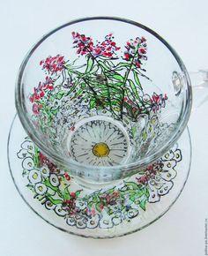 Сервизы, чайные пары ручной работы. Ярмарка Мастеров - ручная работа. Купить Иван-чай. Handmade. Фуксия, цветы