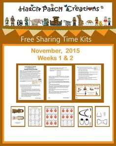 "Free Sharing Time Kit: November Weeks 1 and 2: ""Jesus Christ taught us how to serve others."""
