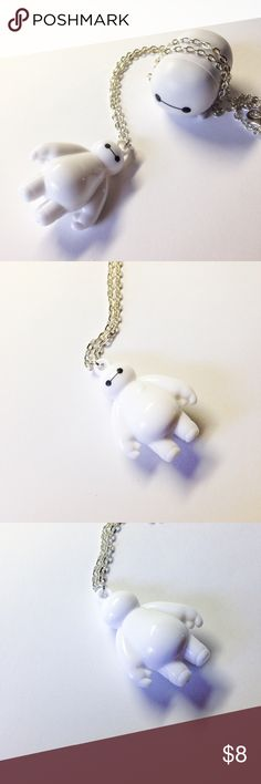 """Baymax Necklace - Big Hero 6 Handmade necklace finished with a Baymax charm. This is themed after Disney's Big Hero 6.  We offer 15% off on all bundles. You can """"Add to Bundle"""" to get discount.  Most items listed are ready to ship but if you need something sooner please let us know before ordering.  Thank you for shopping my closet! Magic Main Street Jewelry Necklaces"""