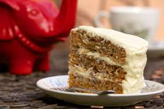 Southern-style carrot cake by Poh Ling Yeow via SBS Food Sbs Food, Crushed Pineapple, All Vegetables, Shredded Coconut, Round Cakes, Cake Tins, Serving Plates, Cream Cheese Frosting, Corn Syrup