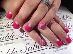 CND Shellac Pink bikini with CND Additives in icicle.