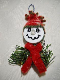 Red Tea Light Snowman Ornament von notjustknots auf Etsy