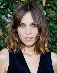 Alexa Chung's signature cool-girl hairstyle is the shaggy lob