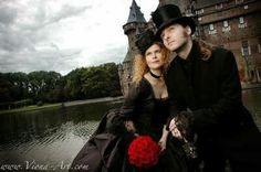 Neo Victorian Goth Couple Whimsical Wedding Inspiration, Pagan Wedding, Victorian Gothic, Dark Side, Steampunk, Wedding Photography, Bridesmaid, Halloween, Couples