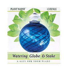 "Amazon.com : Plant Nanny 8116 12 oz Dark Blue Spiral Fluted Watering Globe & Stake Set, 3-1/2"", Cobalt : Home Decor Products : Patio, Lawn & Garden"
