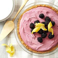 Black Raspberry Cream Pie