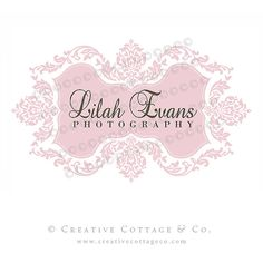Custom Premade Damask Logo and Watermark For by CreativeCottageCo, $50.00