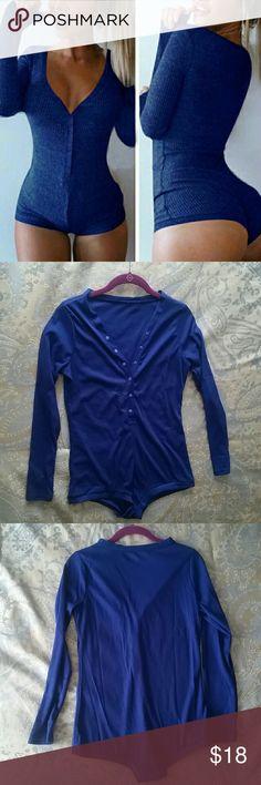 Royal blue pajama romper Thermal pj romper so cute on!!! , NWOT offers welcome Intimates & Sleepwear Pajamas