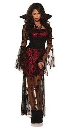 Underwraps Women's Crimson Sexy Gothic Vampire Costume (X-Large)
