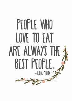 Julia Child Quote 5x7 Kitchen Print Kitchen by PencilsAndPallets